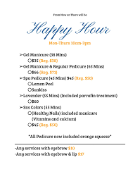 happy hours u2013 21 nail lounge at belle pre