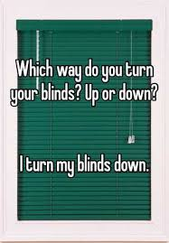 Blinds Up Which Way Do You Turn Your Blinds Up Or Down I Turn My Blinds Down