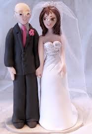bald groom cake topper bald groom with wedding cake topper
