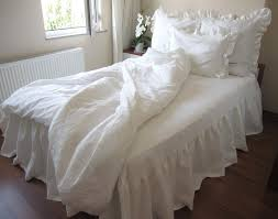 King Linen Comforter Australian King Duvet Cover With 3 Euro Sham Ivory Or White