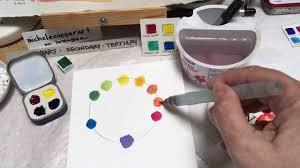 make a watercolor color wheel youtube