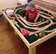 thomas the train activity table and chairs train table michael s play room pinterest train table