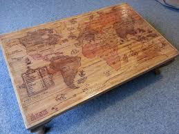 risk board coffee table burned map maps pinterest