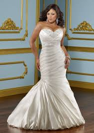 lustrous plus size satin wedding dress style 3116 morilee