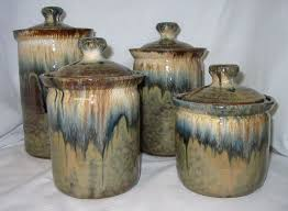 pottery kitchen canisters pottery kitchen canister sets rapflava