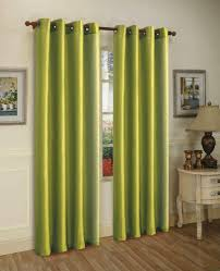 amos 2 piece solid faux silk grommet window treatment curtain