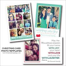 happy holidays free christmas card photo templates tatertots
