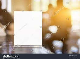On Table by Mock Menu Frame On Table Bar Stock Photo 567151510 Shutterstock