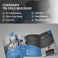 2 fold brochure template corporate tri fold brochure template