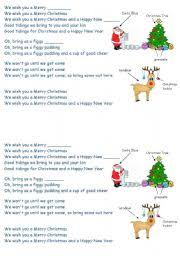 teaching worksheets we wish you a merry
