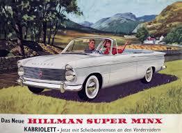 1964 hillman super minx convertible classic marques hillman