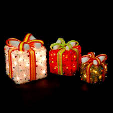 pre lit christmas gift boxes 3 lighted christmas gift boxes