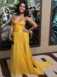 Canary Yellow Dresses For Weddings Vanessa Hudgens Is Cheerful In Canary Yellow At Premiere Of
