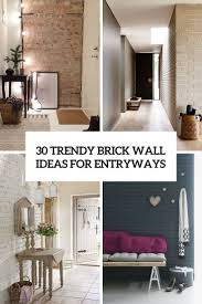 entry ways 30 trendy brick wall ideas for entryways digsdigs