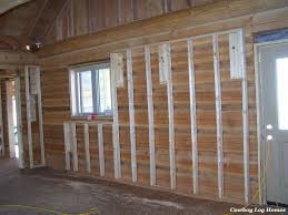 Interior Log Home Pictures Days 12 And 13 Interior Framing Cowboy Log Homes