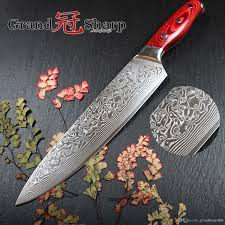 grandsharp 67 layers japanese damascus steel damascus chef knife 8