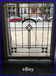 ebay stained glass ls antique 1920 s chicago bungalow stained leaded glass window 34 by 29