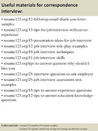 Effective Resume Samples by Top 8 Correspondence Resume Samples