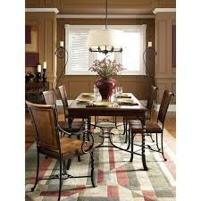 riverside furniture medley rectangular dining table with inlayed