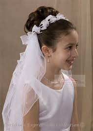 1st communion veils communion bun wrap veils with bows simple communion