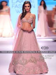 buy apparels amy jackson light pink colour net bollywood inspired