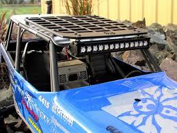 Light Rack Gear Head Rc 1 10 Scale Wraith Slim Line Roof Rack With Light Bar