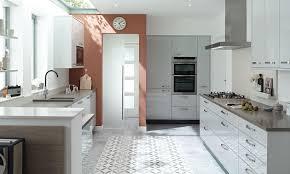 white gloss kitchen designs porter contemporary gloss kitchen in grey