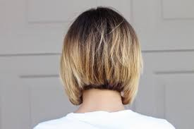 pictures of back of hair short bobs with bangs asymmetrical ombre bob hair update one little momma