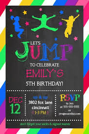 jump bounce house trampoline park party birthday invitation add