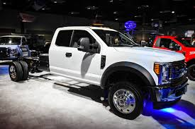 Ford Diesel Truck Generations - ford unveils 2017 f series chassis cab super duty trucks with huge