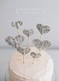 heart cake topper diy glitter hearts cake topper