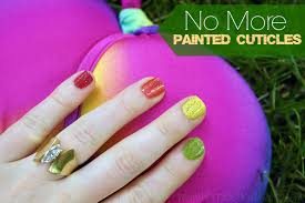 painting your cuticles is easily avoided with these nail tricks