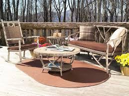 Whitecraft Patio Furniture Whitecraft River Run 36 Round Faux Birch Top Coffee Table S545211