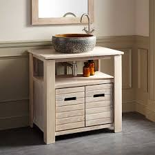 White Washed Kitchen Cabinets Teak Vessel Sink Vanity Whitewash Bathroom Vanities Bathroom