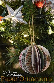 diy vintage paper ornaments tutorial