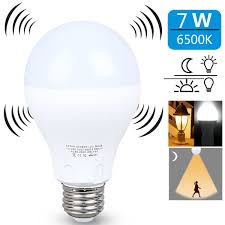 led light bulb with dusk to dawn sensor motion sensor light bulb 7w smart bulb dusk to dawn led motion