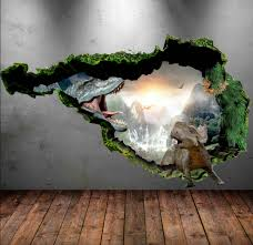 dinosaur wall decal wall stickers full colour 3d dinosaur zoom