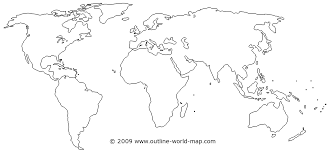 South America Map Outline by World Map Outline