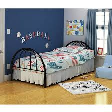 Twin Bed Frame With Mattress Rack Furniture Brooklyn Metal Twin Bed Multiple Colors Walmart Com