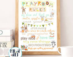Family House Rules House Rules Print Etsy