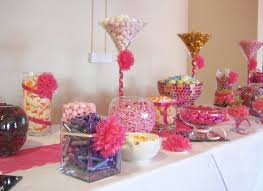 Candy Table For Wedding Fuchsia Pink Candy Bar At The Millennium Stadium Pink Candy Bar
