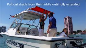 Sailboat Awning Sunshade How To Extend Bocashade Retractable Boat Awning Youtube