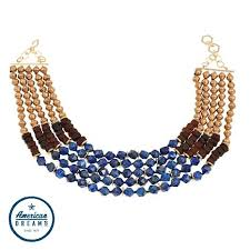 african bead necklace images Akola quot african queen quot lapis stone and karatasi paper bead jpg