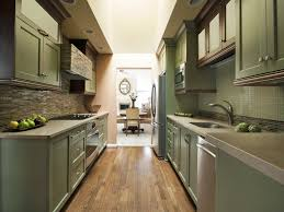 kitchen style double wall oven galley kitchen design modern