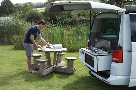 volkswagen california camper slidepods are a way to add a rear campervan kitchen pod to