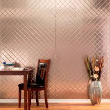 interior paneling home depot fasade 96 in x 48 in quilted decorative wall panel in argent