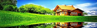 landscape house beautiful landscape