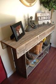 Pallet Console Table Sofa Table Made From Pallets Console Table With Storage