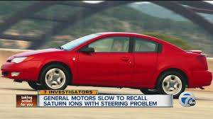 general motors slow to recall saturn ions with steering problem