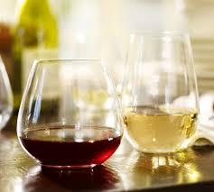 Wine Glasses Schott Zwiesel Stemless Wine Glasses Set Of 6 Pottery Barn